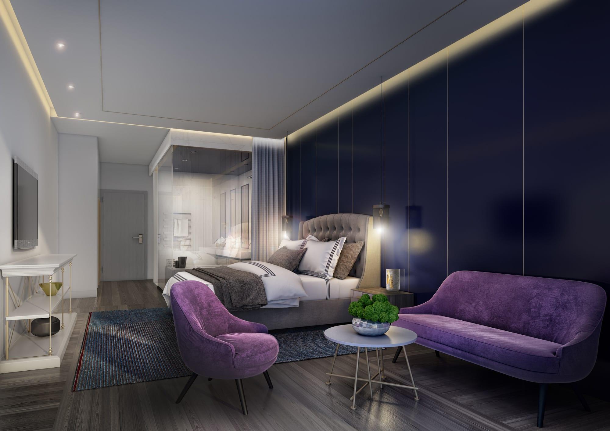 hotel interior design dubai uae - Violet Hotel Design