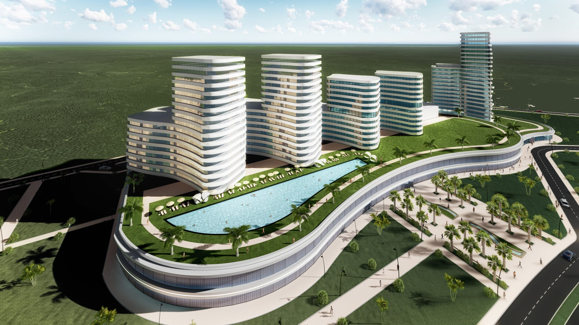 Shopping mall office building mozambique rt consult for Building design images